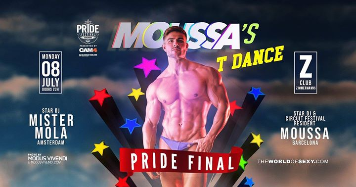 Moussa's T-Dance - Official Pride Festival Cologne Final in Koln le Mon, July  8, 2019 from 11:00 pm to 06:00 am (Clubbing Gay)