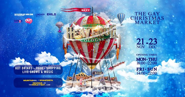 Heavenue Cologne 2019 - Köln's fröhlichster Weihnachtsmarkt! in Koln le Fri, December  6, 2019 from 04:00 pm to 02:00 am (After-Work Gay)