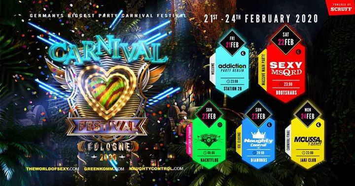 Carnival Festival Cologne 2020 by SEXY Greenkomm Naughtycontrol in Koln from 21 til February 25, 2020 (Clubbing Gay)