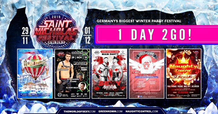 St. Nicholas Festival Cologne '19 feat SEXY, Greenkomm, Naughty in Koln from November 29 til December  2, 2019 (Clubbing Gay)