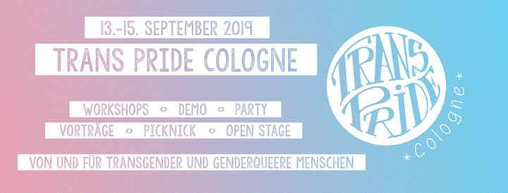Trans Pride Cologne 2019 in Koln from 13 til September 15, 2019 (Festival Gay, Lesbian, Trans, Bi)