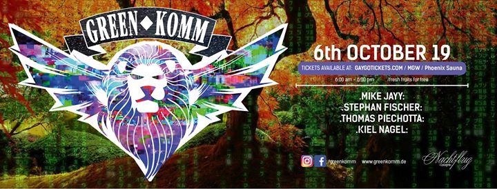 GREEN KOMM Summer & Autumn in Koln le Sun, October  6, 2019 from 06:00 am to 06:00 pm (Clubbing Gay, Lesbian, Trans, Bi)