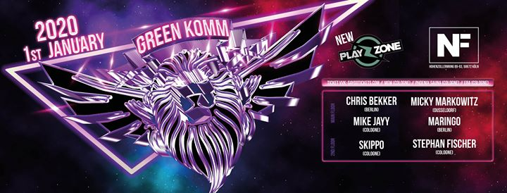 GREEN KOMM New Year Day 2020 en Colonia le mié  1 de enero de 2020 06:00-18:00 (Clubbing Gay, Lesbiana, Trans, Bi)