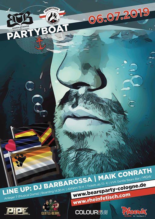 """Partyboat """"Bears meets Fetishguys"""" à Cologne le sam.  6 juillet 2019 de 14h30 à 19h00 (Croisière Gay, Bear)"""