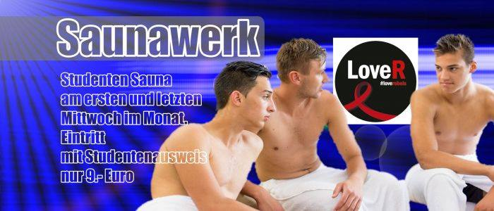 Studentensauna in Francfort-sur-le-Main le Mi 28. August, 2019 12.00 bis 03.00 (Sexe Gay)