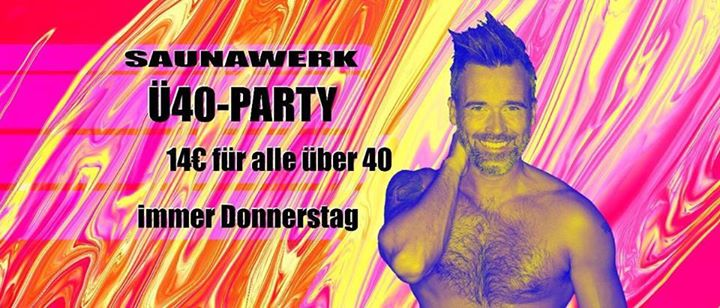 Ü40 Party en Francfort-sur-le-Main le jue 16 de mayo de 2019 12:00-03:00 (Sexo Gay)