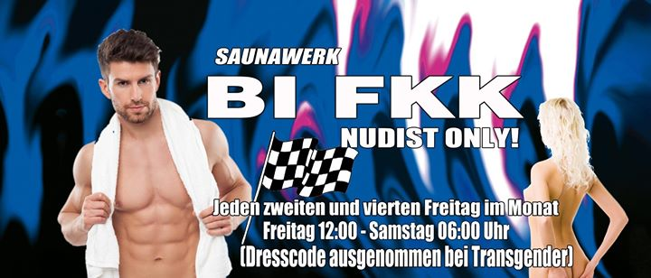 BI FKK - Everybodys Welcome Spezial - Naked in Francfort-sur-le-Main le Fr 11. Dezember, 2020 12.00 bis 06.00 (Sexe Gay)