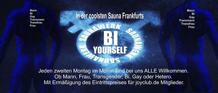 BI Yourself in Francfort-sur-le-Main le Mo  8. Juli, 2019 12.00 bis 03.00 (Sexe Gay)