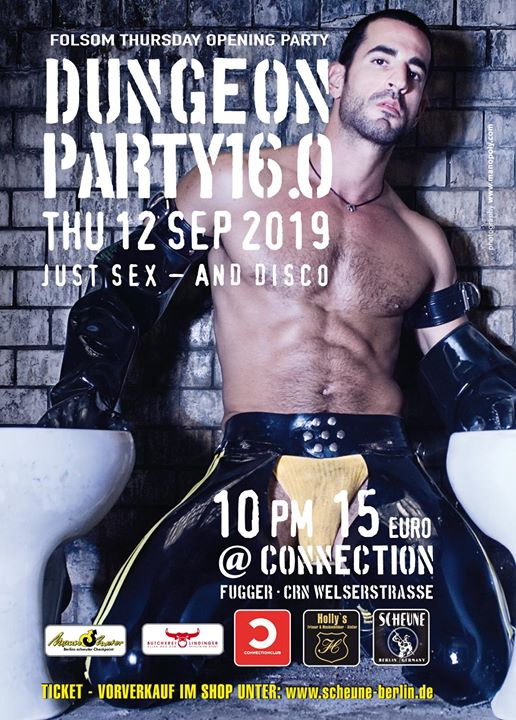 ▇ Dungeon Party - Folsom Special ▇ in Berlin le Thu, September 12, 2019 from 10:00 pm to 06:00 am (Clubbing Gay)