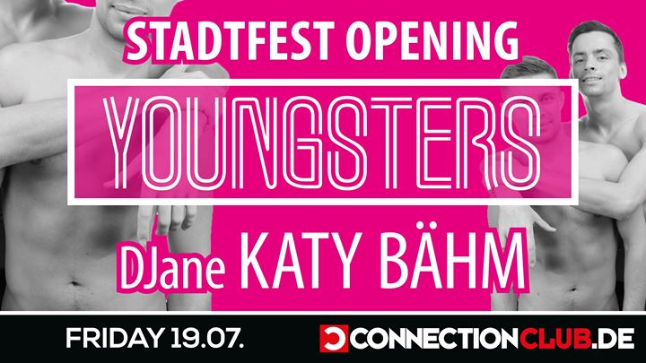 ∙ 19.07.19 ∙ Stadtfest Opening by Youngsters in Berlin le Fr 19. Juli, 2019 23.00 bis 07.00 (Clubbing Gay)
