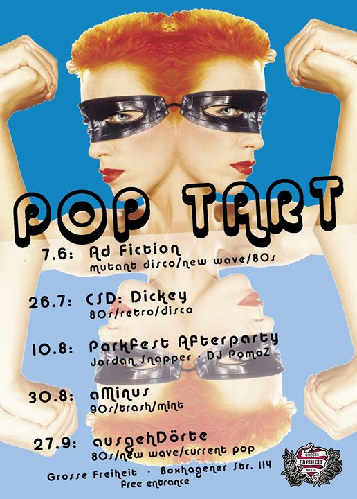POP TART Fridays! Summer 2019 in Berlin le Fri, August 30, 2019 from 11:00 pm to 06:00 am (Clubbing Gay)