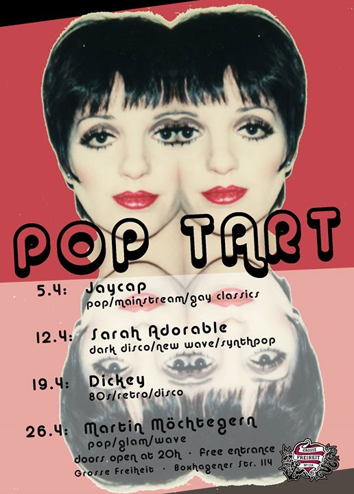 POP TART Fridays! April 2019 in Berlin le Fr 19. April, 2019 23.00 bis 06.00 (Clubbing Gay)