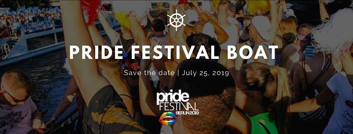 ★ Pride Boat auf der Spree 2019 #4 ★ in Berlin le Thu, July 25, 2019 from 07:22 pm to 10:22 pm (After-Work Gay)