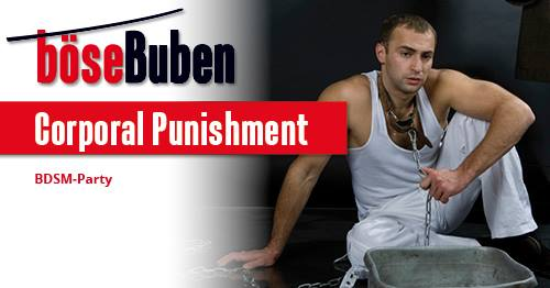 Corporal Punishment in Berlin le Fri, September 27, 2019 from 08:00 pm to 03:00 am (Sex Gay)