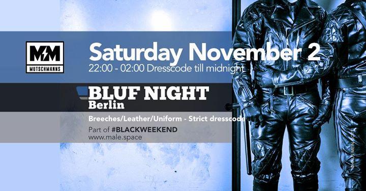 柏林BLUF Night Berlin2019年10月 2日,22:00(男同性恋 性别)