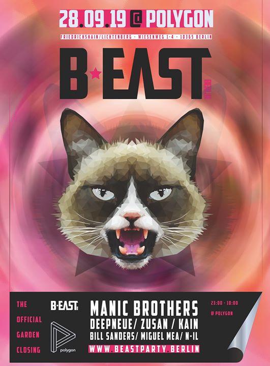 B:EAST - The Garden Closing w/ Manic Brothers em Berlim le sáb, 28 setembro 2019 23:00-10:00 (Clubbing Gay)