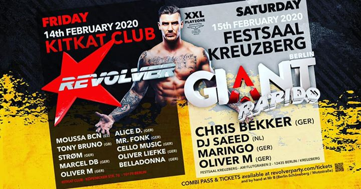 柏林GIANT Revolver meets Rapido (Festsaal Kreuzberg in Berlin)2020年11月15日,23:00(男同性恋 俱乐部/夜总会)