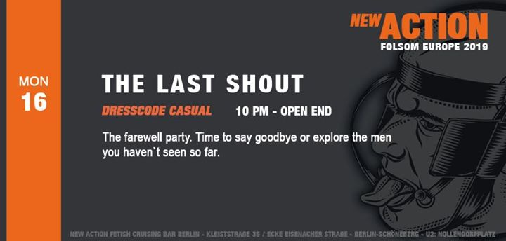 The Last Shout (Folsom Berlin) in Berlin le Mon, September 16, 2019 from 10:00 pm to 07:00 am (Sex Gay)