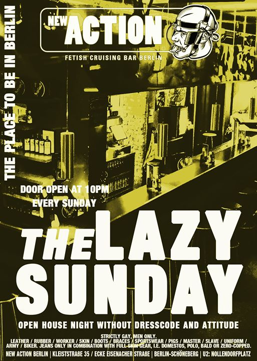 Lazy Sunday in Berlin le Sun, September 22, 2019 from 10:00 pm to 04:00 am (Sex Gay)