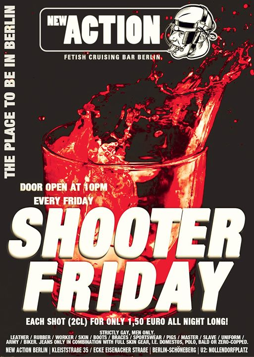 Shooter Friday in Berlin le Fri, October 18, 2019 from 10:00 pm to 06:00 am (Sex Gay)