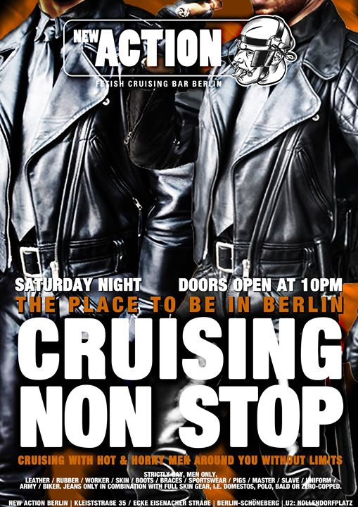柏林Cruising Non Stop2019年10月19日,22:00(男同性恋 性别)