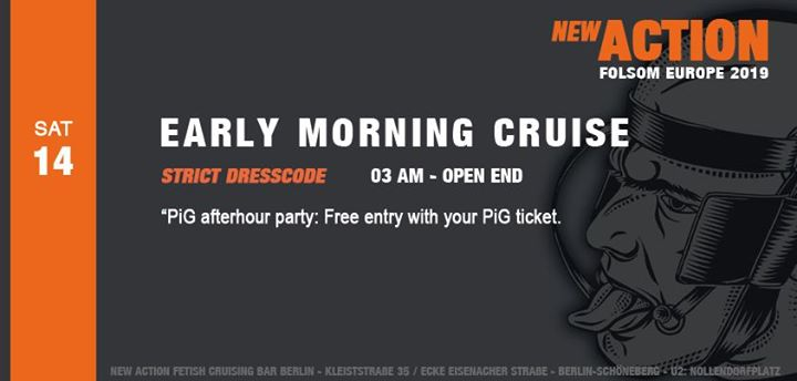Early Morning Cruise (Folsom Berlin) in Berlin le Sun, September 15, 2019 from 03:00 am to 08:00 am (Sex Gay)