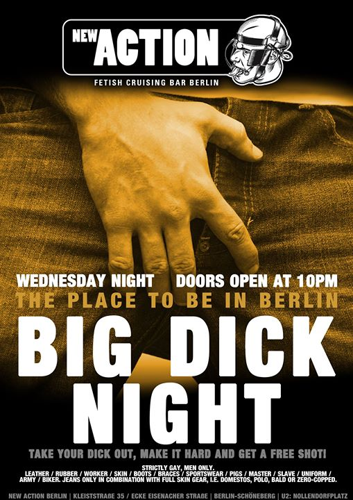 Big Dick Night en Berlín le mié 16 de octubre de 2019 22:00-04:00 (Sexo Gay)