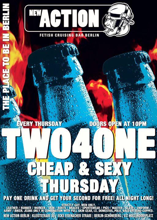 柏林2-4-1 Cheap & Sexy Thursday2019年10月17日,22:00(男同性恋 性别)
