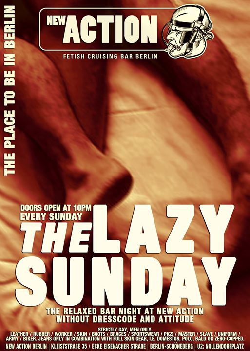 Lazy Sunday in Berlin le Sun, December  8, 2019 from 10:00 pm to 04:00 am (Sex Gay)