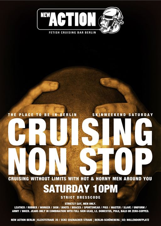 Cruising Non Stop (Skinweekend 2019) in Berlin le Sat, November  2, 2019 from 10:00 pm to 07:00 am (Sex Gay)