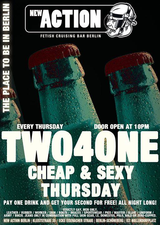 2-4-1 Cheap & Sexy Thursday en Berlín le jue 25 de julio de 2019 22:00-05:00 (Sexo Gay)