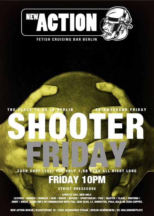 Shooter Friday (Skinweekend 2019) a Berlino le ven  1 novembre 2019 22:00-06:00 (Sesso Gay)