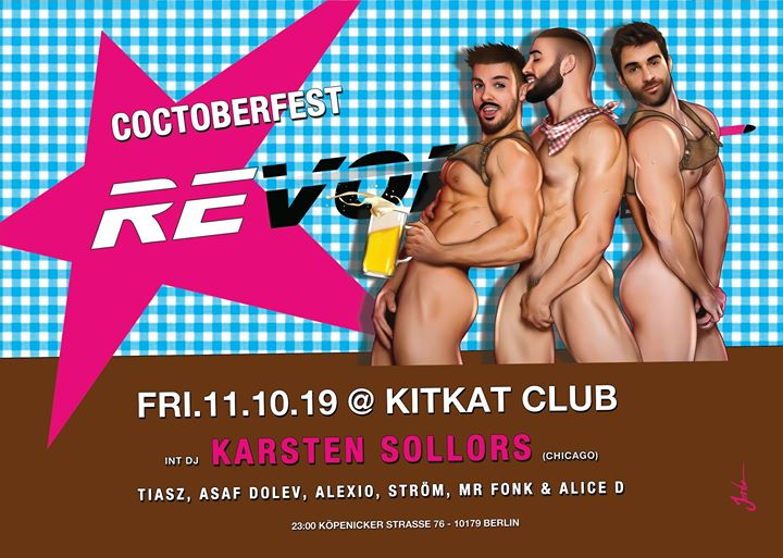 REVOLVER PARTY - COCTOBER w/ Karsten Sollors (Chicago) em Berlim le sex, 11 outubro 2019 23:00-10:00 (Clubbing Gay, Bear)