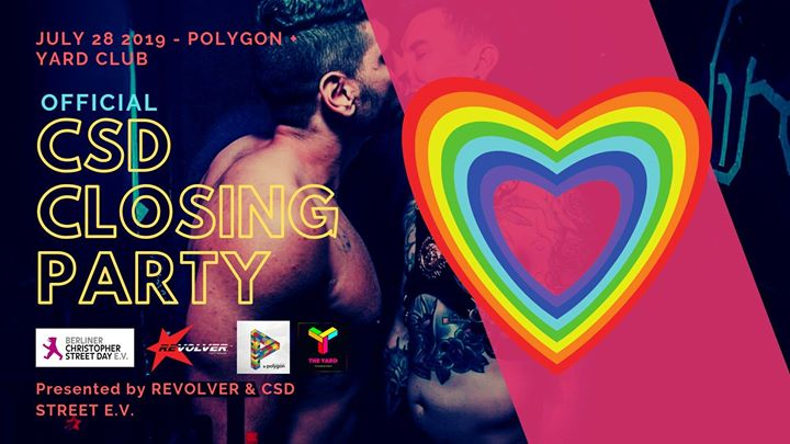 Official CSD Closing Indoor & Outdoor / Sun 28/07 at Polygon in Berlin le Sun, July 28, 2019 from 04:00 pm to 07:00 am (Clubbing Gay, Bear)