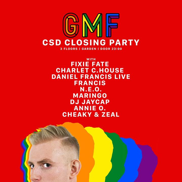 Berlin Pride 2019 | The Sunday Closing Party (GMF) in Berlin le Sun, July 28, 2019 from 11:00 pm to 10:00 am (Clubbing Gay)