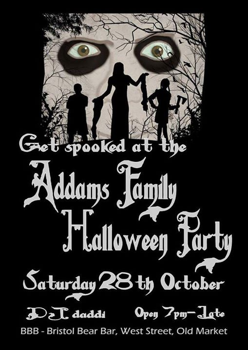 Addams Family Halloween Party.Addams Family Halloween Party In Bristol On October 28th 2017