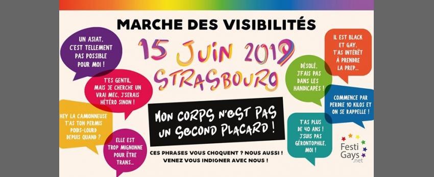 Marche des Visibilités LGBTI - Strasbourg - 2019
