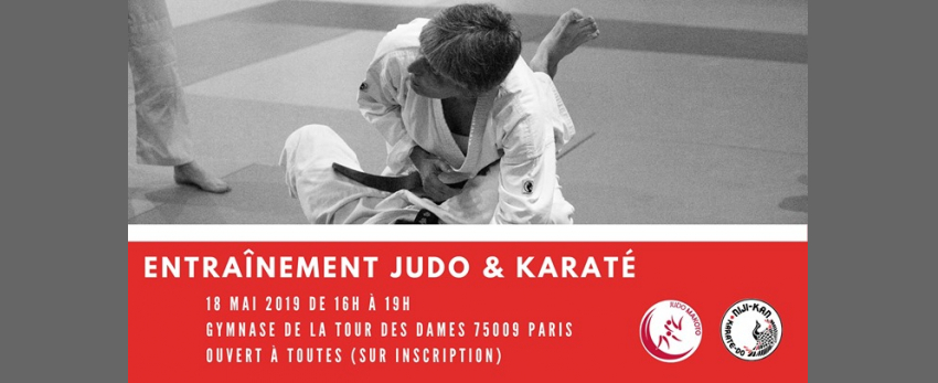 Entraînement commun karaté-judo 100% féminin
