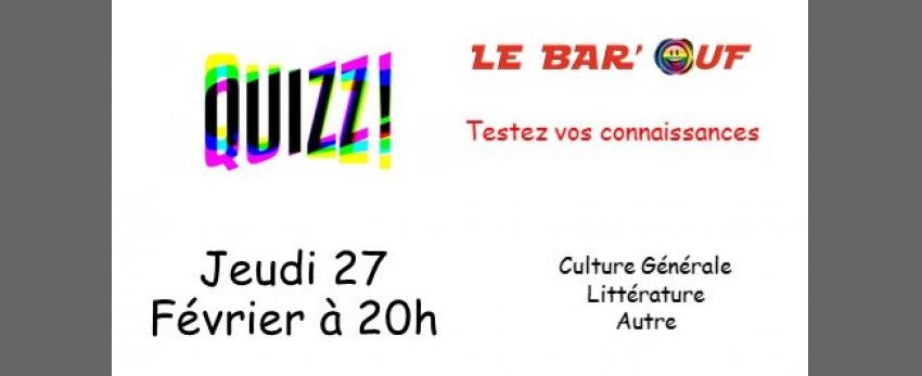 Le Bar'Ouf : Quizz Culture Générale