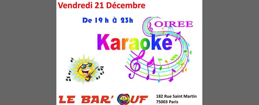 Le Bar'Ouf : Soiree Karaoké