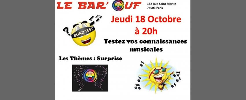 Le Bar'Ouf : Blind Test Musical