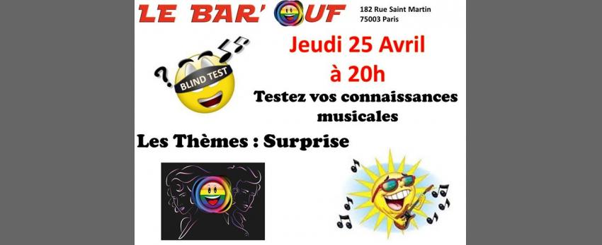 Le Bar'Ouf Blind Test Musical