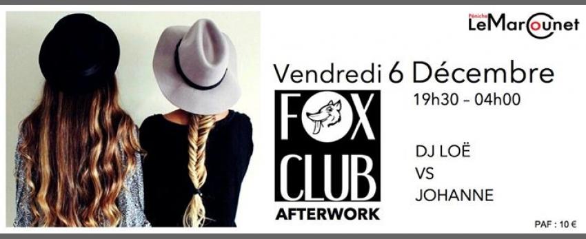 FOX Afterwork Vendredi 6 Décembre Péniche Marcounet