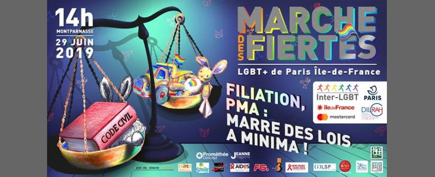 Marche des Fiertés LGBT+ de Paris IDF 2019