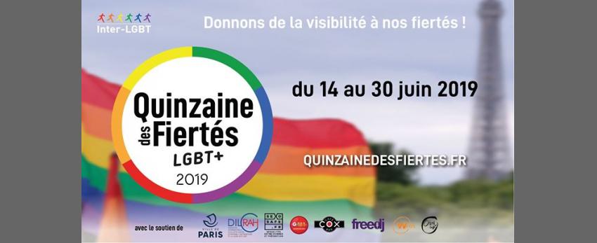 Quinzaine des Fiertés LGBT+ édition 2019
