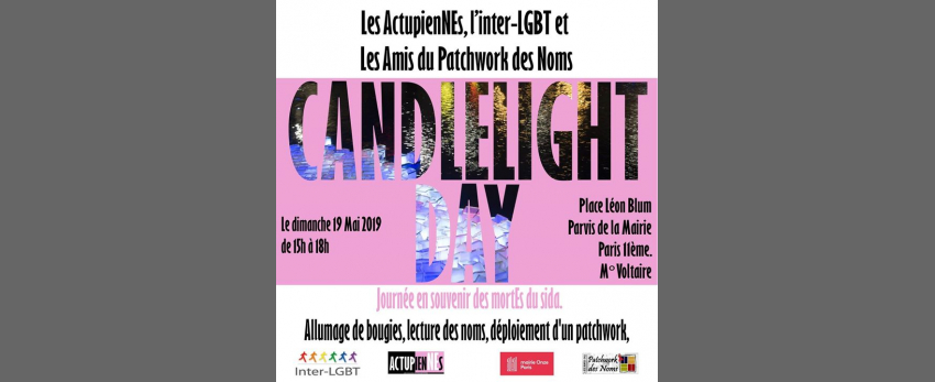 Candlelight DAY : Rassemblement en souvenir des mortEs du sida