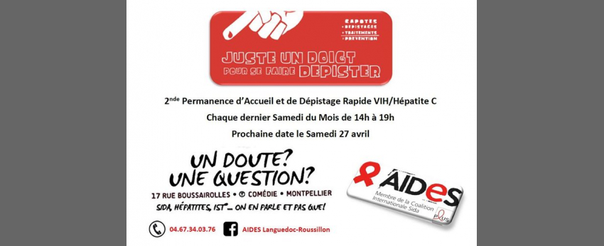 Permanence d'Accueil et Dépistages Rapides VIH/Hépatite C