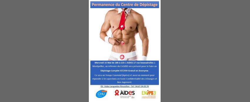 Permanence du Centre de Dépistage - Aides Montpellier