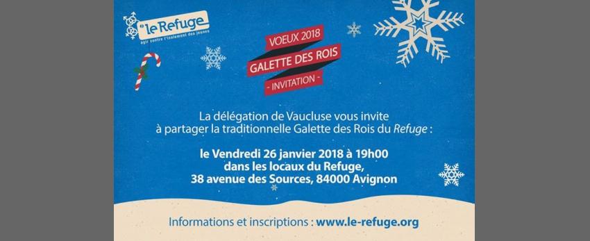Vœux 2018 / Galette des Rois - Le Refuge Avignon
