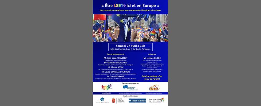 Colloque Etre LGBT+ ici et en Europe